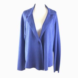 Eileen Fisher Notched Lapel Sweater Jacket